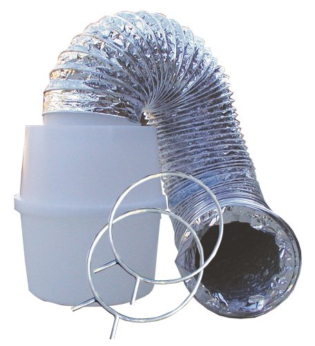 Box Trap (Speedi-Products EX-LTK 04 4-Inch by 60-Inch Lint Trap Kit with Bucket & Aluminum Silver Duct)