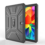 Poetic Samsung Galaxy Tab 4 8.0 Case [REVOLUTION Series] - Rugged Hybrid Case with Built-in Screen Protector for Samsung Galaxy Tab 4 8.0 (SM-T330 / SM-T331 / SM-T335) Black (3-Year Manufacturer Warranty from Poetic)