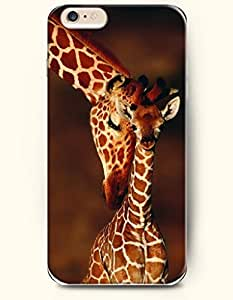 OOFIT Iphone 6 Plus (5.5 Inch)/Mother Giraffe Wants to Hug its Baby