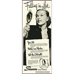 FALLING IN LOVE IN 1946 SHURON FASHION EYEWEAR AD Original Paper Ephemera Authentic Vintage Print Magazine Ad / Article