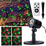 Cheap Brightown Christmas Laser Lights, Waterproof Projector with RF Remote Control, Red and Green Star Show for Christmas, Party, Landscape and Garden Decorations, Multicolor