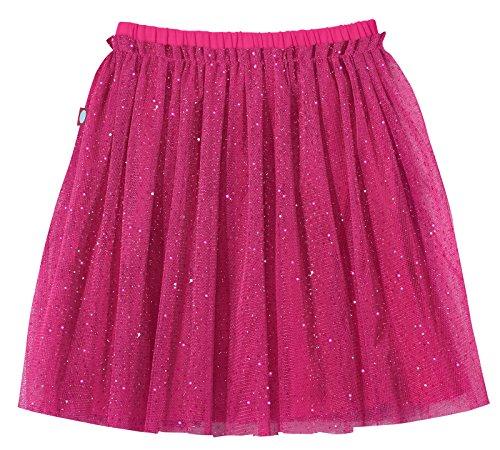 City Threads Girls Tutu Skirt Sparkle Tulle Bubble Mesh Skirt Princess Ballerina Play Sundress Summer Dance Soft Cotton Ballet Party Dress, Hot Pink, 5 -