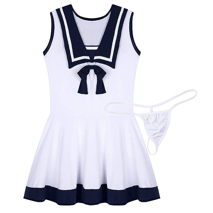 Freebily Uniforme Escolar Japones Mujer de Cosplay Marinera ...