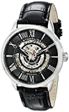 Stuhrling Original Men's 696.02 Legacy Automatic Skeleton Date Black Leather Strap Watch