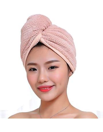 Auplew Cappello per Asciugatura Rapida dei Capelli Asciugamano in Microfibra Asciugamano per Capelli con Turbante Magico Asciugatura a casa Bagno