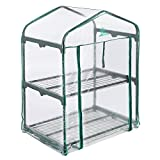 Cheap Palm Springs 2 -Tier Mini Greenhouse with Cover and Roll-up Zipper Door