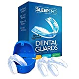 TMJ Mouth Guard for Teeth Grinding and Clenching - Professional Dental Night Guards to Prevent Bruxism - Helps Mouth and Jaw Pain - Dentist Approved - 3 Custom Fit Guards + Antibacterial Case