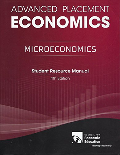 Advanced Placement: Microeconomics: Student Resource Manual