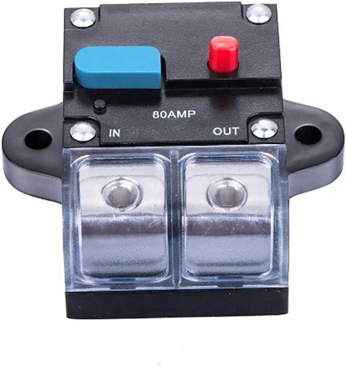 kaakaeu 1 St/ück 80A//150A//200A//250A Sicherungsautomat Sicherungshalter f/ür Auto Boot LKW Stereo Audio Fahrzeug RV gemeinsame elektronische Ger/äte Schaltungteile Zubeh/ör 80AMP