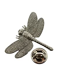 Dragonfly Pin ~ Antiqued Pewter ~ Lapel Pin ~ Sarah's Treats & Treasures