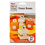 Darice Jungle Zoo Animal Theme Favor Boxes - Baby Shower Birthday Decoration, Candy Favor Treat Box (assorted) - 24 pieces
