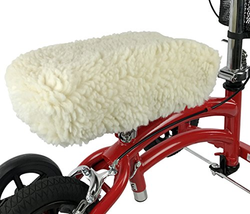 KneeRover Universal Knee Walker Knee Rest Pad Cover - Plush Synthetic Sheepskin Pad for Rolling Scooter by KneeRover (Image #8)