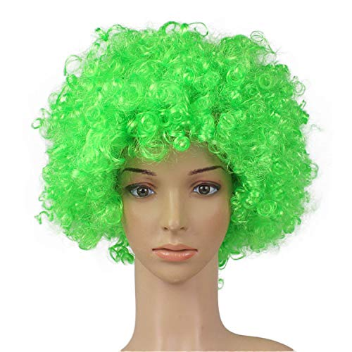JYS Clown Wig Xmas Ideas with Foam Clown Nose Crazy Wigs for April Fools Day Jokes Birthday Party│Fancy Dress Party Wigs, Afro Wig, Halloween Wig, Christmas Wig, Masquerade Wig (C)