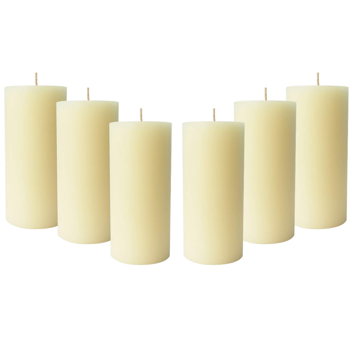 Simply Soson 6 Ivory Pillar Candles 3x6 | unscented Pillar Candles | Dripless Pillar Candles Bulk (6 Pack) Code 2258