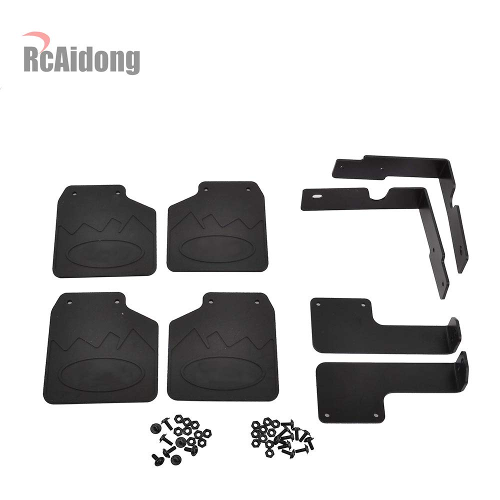 RCAIDONG RC TRX4 Front /& Rear Mud Flaps Rubber Fender for 1//10 RC Crawler Traxxas TRX-4 82046-4 Ford Bronco Ranger XLT Ford