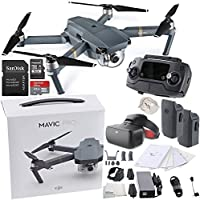 DJI Mavic Pro Collapsible Quadcopter + DJI Goggles Virtual Reality VR FPV POV (Racing Edition) Experience Essential Bundle