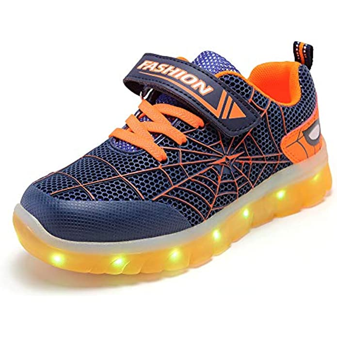 BFOEL Spider Light up Shoes for Boys Girls Toddler Led Walking Sneaker with USB Charging Birthday Thanksgiving Christmas Day Best Gift