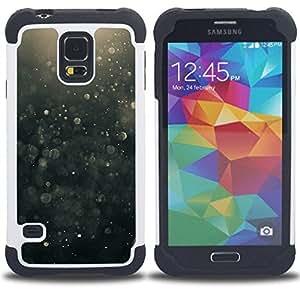 For Samsung Galaxy S5 I9600 G9009 G9008V - Suspension Black Bubbles Hope Dual Layer caso de Shell HUELGA Impacto pata de cabra con im????genes gr????ficas Steam - Funny Shop -