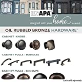 Oil Rubbed Bronze Kitchen Cabinet Pulls - 3 Inch