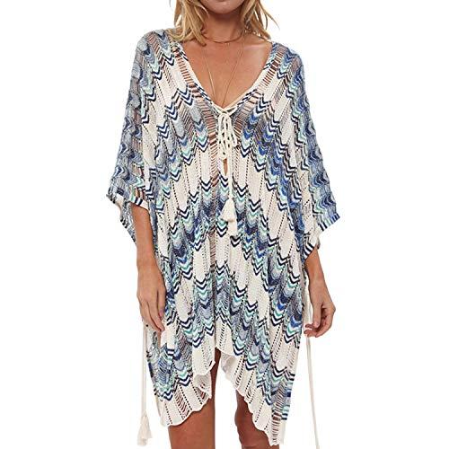 (Byinns Cover Up for Women with Tassel Beach Swimsuit Cover Up for Bikini Summer Dresses)