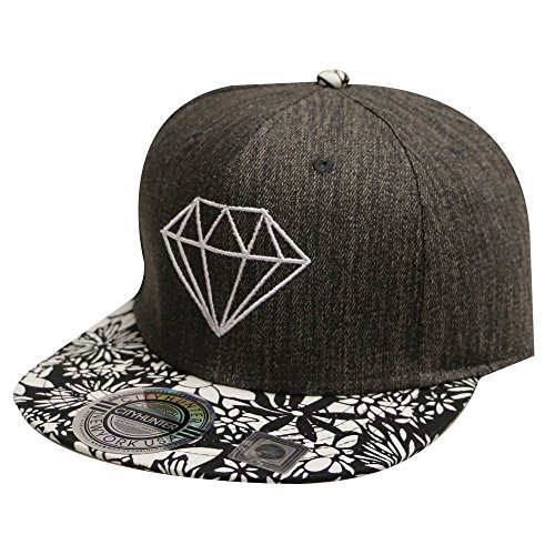 City Hunter Hats Diamond Snapback Cap