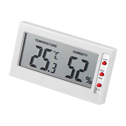 Aramox Termómetro Higrómetro Digital Medidor de Humedad y Temperatura con Gran Pantalla LCD Registro máximo/
