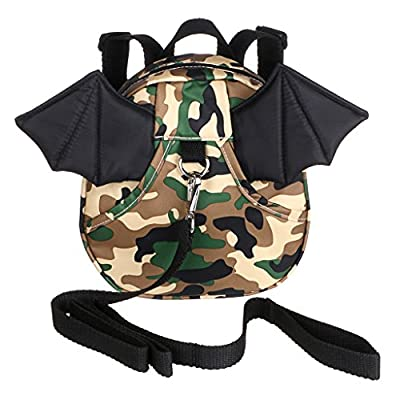 Hipiwe Baby Toddler Walking Safety Backpack with Leash Little Kid Boys Girls Anti-lost Travel Bag Harness Reins Cute Mini Bat Backpacks for Baby 1-3 Years Old