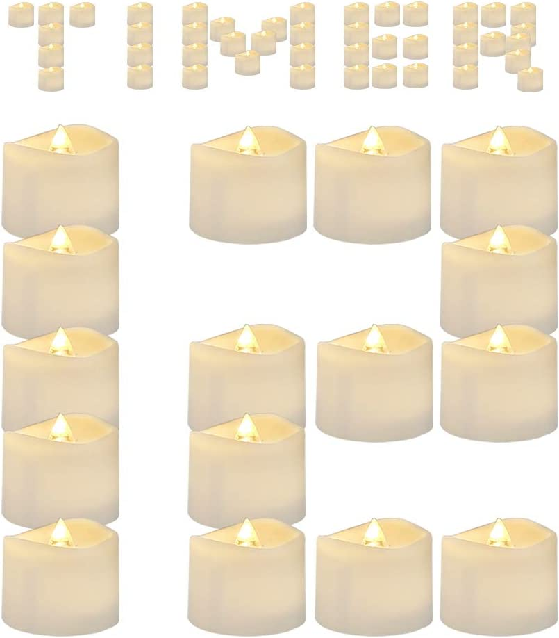 AMAGIC Timer Tea Lights 12 Pack, Flameless Flickering LED Tea Light Candles for Christmas Decor, 6 Hours on and 18 Hours Off, Warm White, D1.4'' H1.25'', Much More Convenient