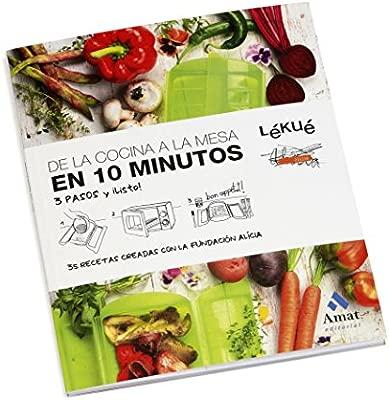 Lekue - Estuche de vapor, Con bandeja y kit 10 en Español, Rojo, 1 - 2 personas (650 ml)