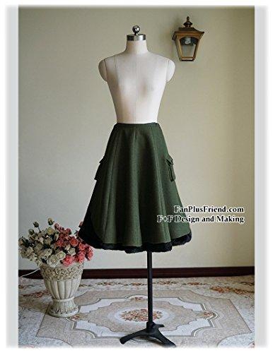 Fanplusfriend - Falda - para mujer verde oscuro