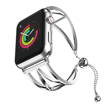 Amazon.com: for Apple Watch Series 4 Fashion Stainless Steel ...
