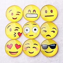 Zehui 20 pcs/lot Cute Emoji Refrigerator Magnets, Cartoon Expression Glass Cabochon Magnetic Stickers, Dome Glass Fridge Magnet