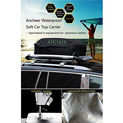 ANCHEER Roof Waterproof Cargo Bag Rainproof Car Top Bag with Storage Sack (Warrior Cargo Hitch Rack compare prices)