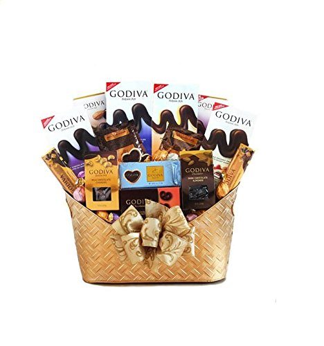 Majestic Godiva Chocolate Gift Basket by California Delicious by California Delicious