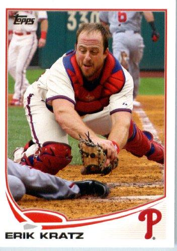 2013 Topps Mini MLB Baseball Card # 361 Erik Kratz Philadelphia Phillies