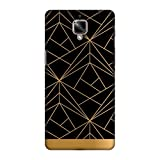 OnePlus 3T Case, Premium Handcrafted Designer Hard Shell Snap On Case Shockproof Printed Back Cover for OnePlus 3 - Golden Elegance 2
