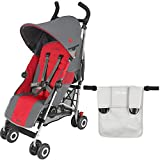 Maclaren Quest Stroller With Organizer in Silver (Charcoal/Cardinal)
