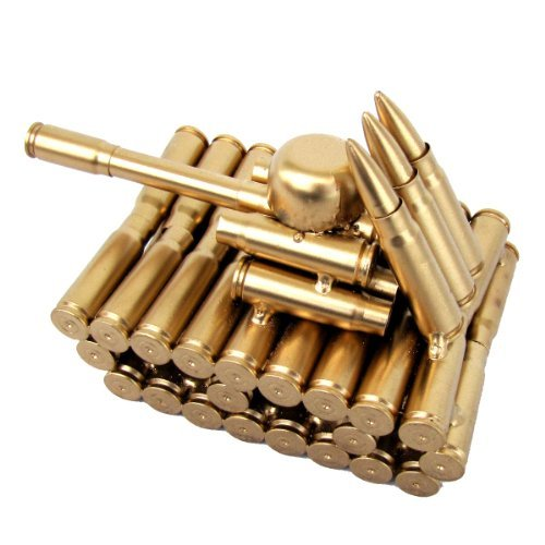Bullet Shell Casing Shaped Army Tank