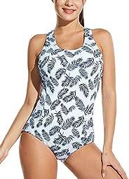 BALEAF Women's One Piece Swimsuit Bathing Suit Athletic Training Swimwear Racerback Mono