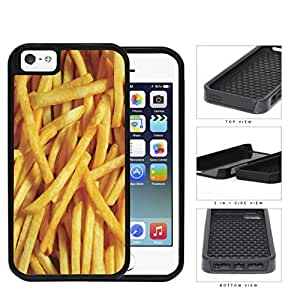 Golden French Fries 2-Piece Dual Layer High Impact Rubber Silicone Cell Phone Case Apple iPhone 5 5s by runtopwell