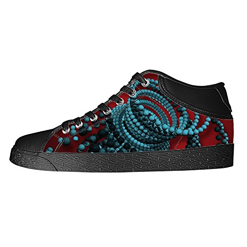 Dalliy Custom 3D Format Mens Canvas Shoes Schuhe Lace-Up High-Top Sneakers Segeltuchschuhe Leinwand-Schuh-Turnschuhe B