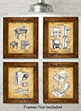 Original Piano Patent Art Prints – Set of Four Photos (8×10) Unframed – Great Gift for Piano Players For Sale