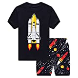Csbks Little Boys Pajama Sets Toddler Cotton Sleepwear Summer Short Graphic PJS 18M Rocket
