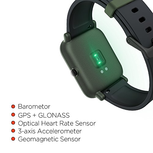 Amazfit Bip Smartwatch by Huami with All-day Heart Rate and Activity Tracking, Sleep Monitoring, GPS, Ultra-Long Battery Life, Bluetooth, US Service and Warranty (A1608 Green) by Amazfit (Image #4)