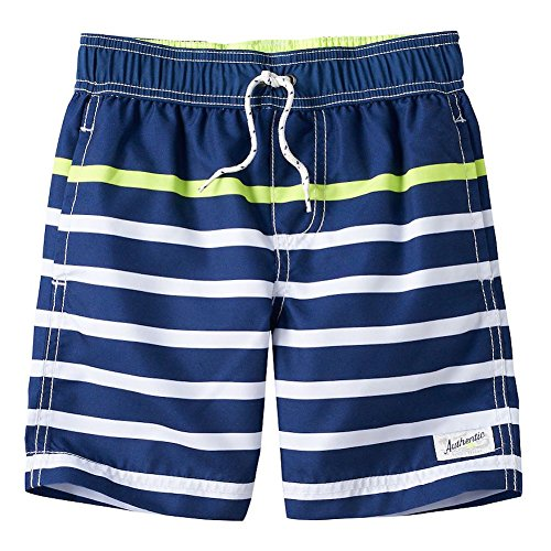 Carter's Baby Boys' Swim Trunks (12 Months, Blue/Yellow Stripe) ()