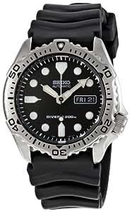 Seiko  SKX171 - Reloj de automático para hombre, con correa de goma, color negro