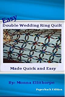 Amazoncom Pre Cut Double Wedding Ring Quilt Kit Arts Crafts Sewing