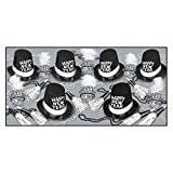 Top Hats & Tails New Year Party Assortment (Kit for 50, Black & White)