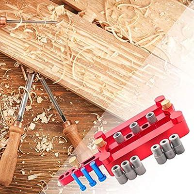 10mm Gu/ía de perforaci/ón para Trabajar la Madera Herramientas Agujero Vertical Localizador de Carpinter/ía lafyHo Autocentrado cajeadoras Plantilla Dowel 6//8