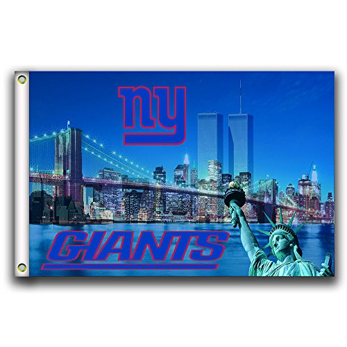Home King NY Giants Skyline Flag Banner 3X5FT 100% Polyester,Canvas Head with Metal Grommet by Home King